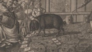 An earlier sapient pig going through its tricks.